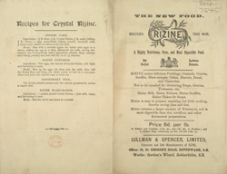 Advertisement for Crystal Rizine